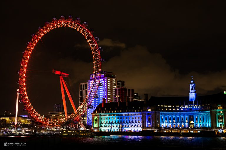 London, Eye, Night, Street, Thames, לונדון, תמזה, גלגל ענק